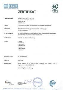 pefc zertifikat 2018 wehner-tischlerei